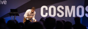 Andrew Steele presenting at New Scientist Live 2016